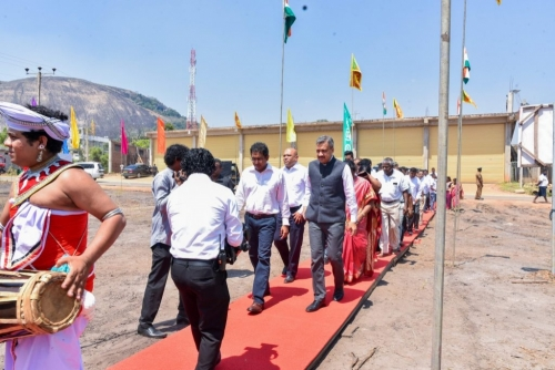 Laying of the foundation stone ceremony for the cool storage project in Dambulla